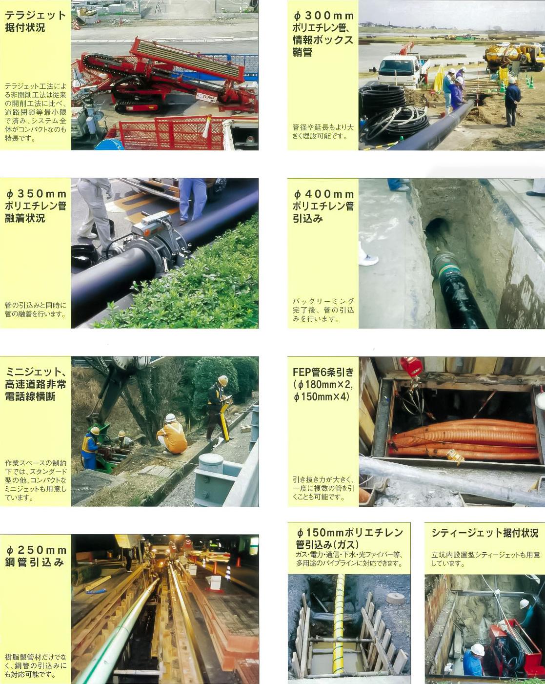 テラジェット工法の施工写真