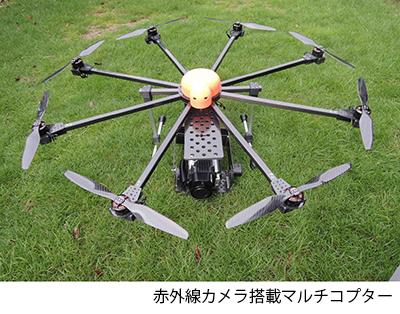 赤外線カメラ搭載マルチコプター